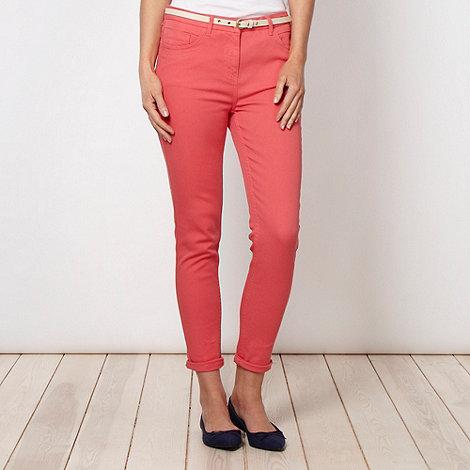 Principles by Ben de Lisi - Designer coral belted slim leg jeans