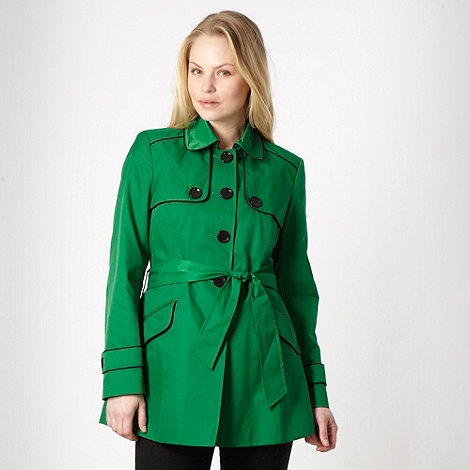 Principles by Ben de Lisi - Bright green short tipped mac coat