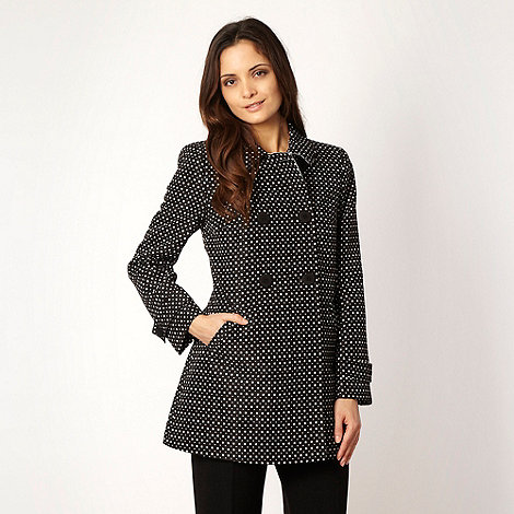 Principles by Ben de Lisi - Black patterned +Dolly+ mac coat