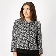 Black diamond jacquard jacket