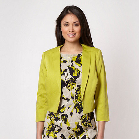 Principles by Ben de Lisi - Designer lime cropped jacket