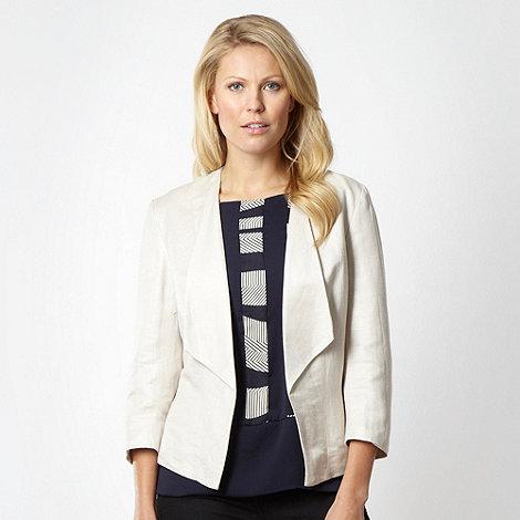 Principles Petite by Ben de Lisi - Petite designer beige linen jacket