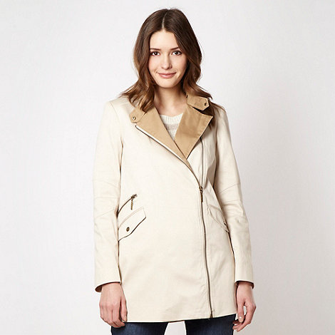 Principles by Ben de Lisi - Designer natural biker style mac coat