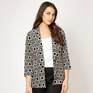 Designer black hexagonal printed jacket