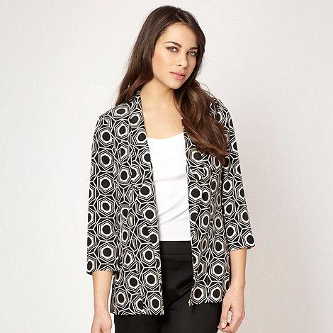 Principles by Ben de Lisi - Designer black hexagonal printed jacket
