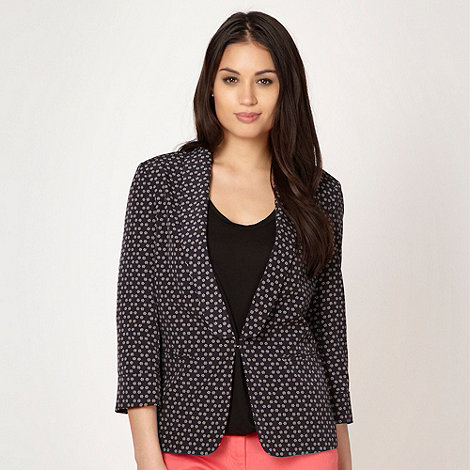 Principles by Ben de Lisi - Designer navy daisy spotted jacket