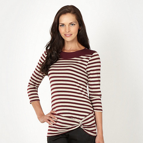 Principles by Ben de Lisi - Designer wine twist striped top