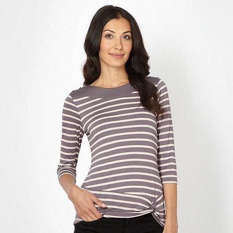 Principles by Ben de Lisi - Designer grey striped twist front top