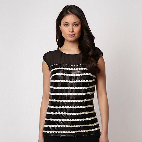 Principles by Ben de Lisi - Designer black sequin shell top