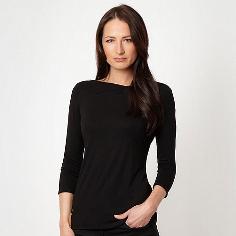 Principles by Ben de Lisi - Black jersey twist neck top