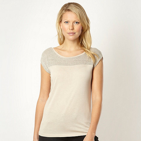 Principles by Ben de Lisi - Designer natural knitted shoulder shell top