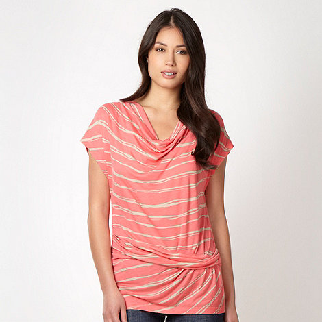 Principles by Ben de Lisi - Designer coral tiger striped top