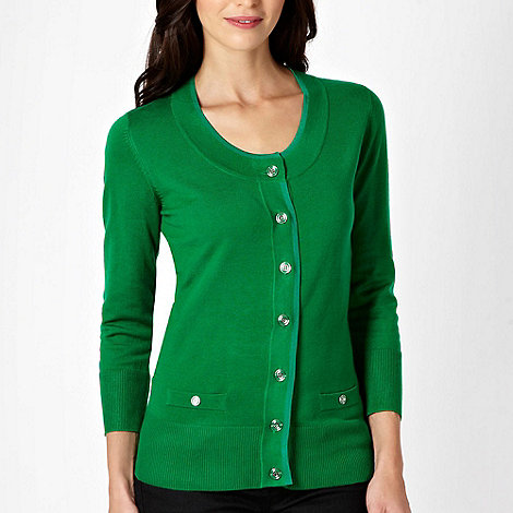 Principles by Ben de Lisi - Green stretch cardigan