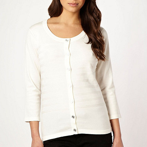 Principles by Ben de Lisi - Designer cream self striped cardigan