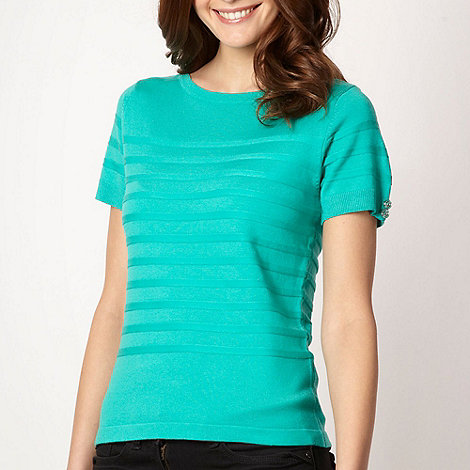 Principles by Ben de Lisi - Designer bright green short sleeved jumper