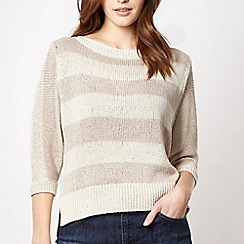 Principles by Ben de Lisi - Designer natural wide striped jumper