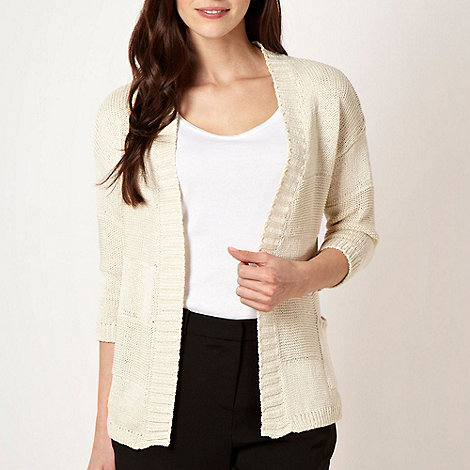 Principles by Ben de Lisi - Designer natural wide striped knit cardigan