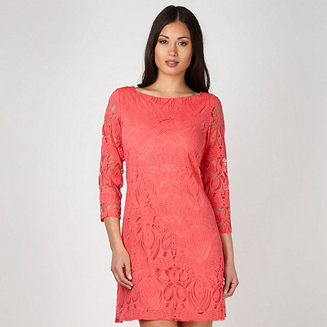 Principles by Ben de Lisi - Designer coral lace tunic cocktail dress