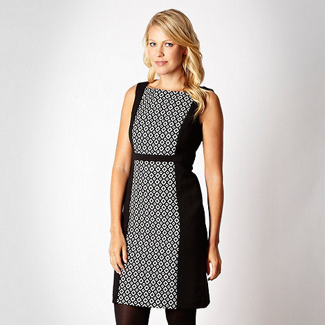 Principles by Ben de Lisi - Black diamond jacquard shift dress