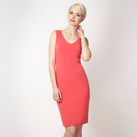 Principles by Ben de Lisi - Online exclusive - Designer coral V neck dress