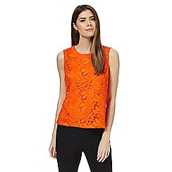 Principles by Ben de Lisi - Orange lace shell top