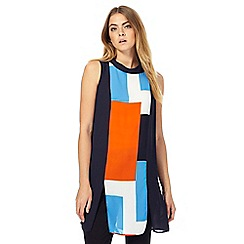 Principles by Ben de Lisi - Orange colour block tunic top