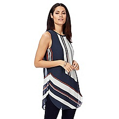 Principles by Ben de Lisi - Navy printed tunic top