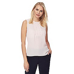 Principles Petite by Ben de Lisi - Light pink rouleau loop sleeveless blouse