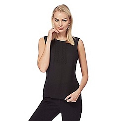 Principles by Ben de Lisi - Black rouleau loop sleeveless blouse