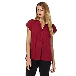 Principles by Ben de Lisi - Dark red buttoned top