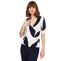 Principles by Ben de Lisi - Multi-coloured printed wrap top