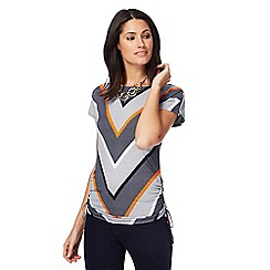 Principles by Ben de Lisi - Multi-coloured chevron striped top