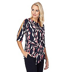 Principles by Ben de Lisi - Multi-coloured leaf print kimono top