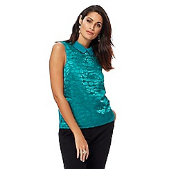 Principles by Ben de Lisi - Green embroidered cloud shell top