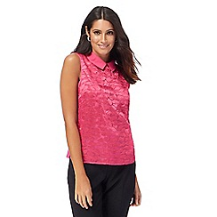 Principles by Ben de Lisi - Pink embroidered cloud shell top