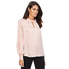 Principles by Ben de Lisi - Light pink roll neck blouse