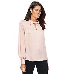 Principles by Ben de Lisi - Light pink roll neck blouse