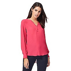 Principles by Ben de Lisi - Bright pink rouleau loop shirt