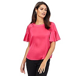 Principles by Ben de Lisi - Bright pink ruffle sleeves top