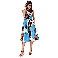 Principles by Ben de Lisi - Multi-coloured leaf print prom dress