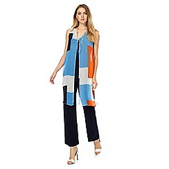 Principles by Ben de Lisi - Navy colour block layered jumpsuit