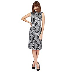 Principles by Ben de Lisi - Grey chain print midi length shift dress