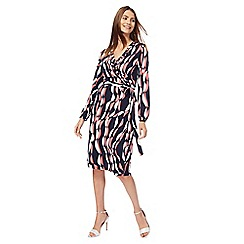 Principles by Ben de Lisi - Multi-coloured printed midi length wrap dress