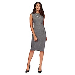 Principles Petite by Ben de Lisi - Grey panel midi length shift dress