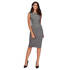 Principles by Ben de Lisi - Grey panel midi length shift dress