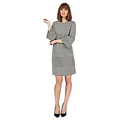 Principles by Ben de Lisi - Black dogtooth print shift dress