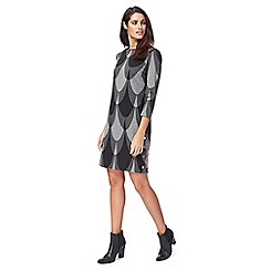 Principles by Ben de Lisi - Grey printed 'Bugsy' mini length tunic dress
