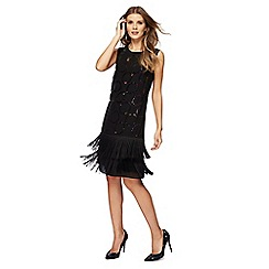 Principles by Ben de Lisi - Black sequin knee length shift dress