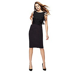 Principles by Ben de Lisi - Black round neck sleeveless knee length shift dress