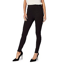 Principles Petite by Ben de Lisi - Black piped leggings
